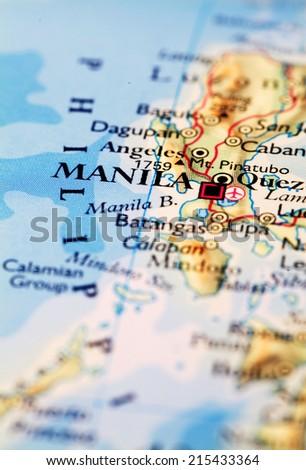 Manila Philippines World Map.Manila Philippines On Atlas World Map Stock Photo Edit Now