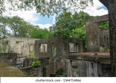 Manila, Philippines. Ruins of old Fort Santiago. Ruined Spanish Fort. Fort Santiago is a citadel which was first built by Spanish conquistador for the new established city of Manila.