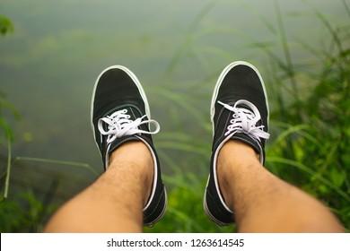 MANILA, PHILIPPINES - September 11, 2018: Vans shoes footwear.