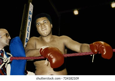 "Manila, Philippines, September, 1975 Muhammad Ali clowning around during training for ""The Thrilla in Manila"""