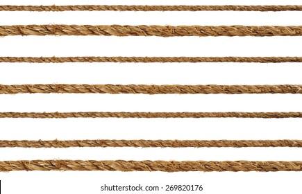 Manila rope on a white background