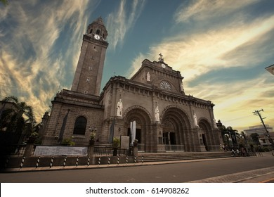 Manila,Philippines, 25 March, 2017 : Manila Cathedral,Roman Catholic basilica