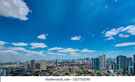 Manila/Philippines - February 2019: Aerial view of Manila. Manila is the capital of the Philippines.