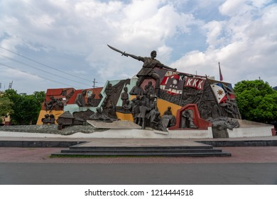 Manila/Philippines - May 19 2018: Andres Bonifacio Shrine. The shrine shows the life story of Andres Bonifacio, a Philippine hero from his childhood to his death.