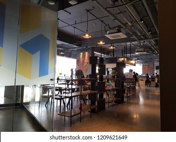 Manila/Phillipines - march 19 2018: In an co-working space