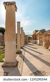 Manisa - Turkey. June 01, 2018.The Temple Of Artemis At Sardis. Salihli, Manisa - TURKEY.