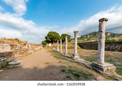 Manisa - Turkey. May 28, 2018.The Temple Of Artemis At Sardis. Salihli, Manisa - TURKEY.The Temple the fourth largest Ionic temple in the world, is situated dramatically on the western slopes of the