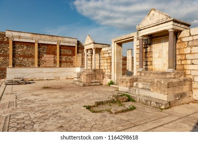 Manisa - Turkey. May 28, 2018.The Temple Of Artemis At Sardis. Salihli, Manisa - TURKEY.The Temple the fourth largest Ionic temple in the world, is situated dramatically on the western slopes