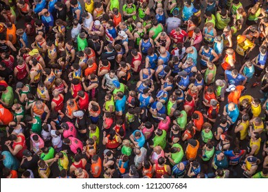 MANISES, VALENCIA / SPAIN May 12th, 2018. 10K Manises Race. Diputación de Valencia's Circuit. Athletes waiting for the start of the race