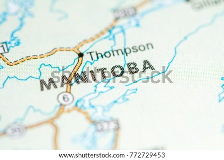 Manitoba Canada On Map Stock Photo Edit Now 772729453 Shutterstock