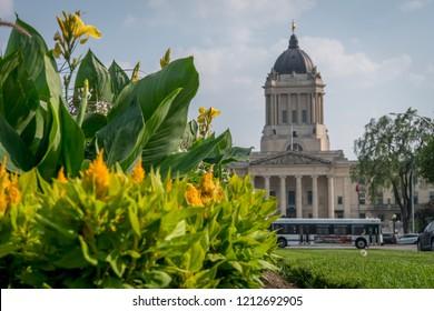 Manitoba Legislative Building originally named the Manitoba Parliament Building in Winnipeg Canada