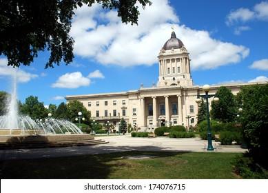 Manitoba Legislative Building in Winnipeg, Manitoba, Canada