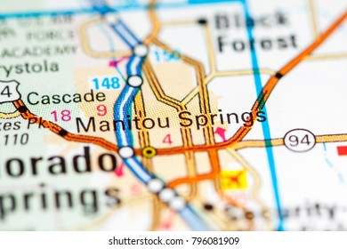 Colorado Springs Map Stock Photos Images Photography Shutterstock
