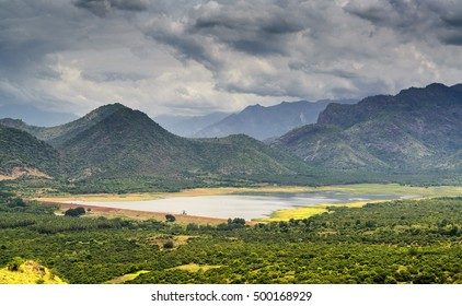 Manjalar dam near Kodaikanal, Tamil Nadu, India