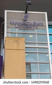 MANKATO, MN/USA - SEPTEMBER 1, 2019: on the campus Minnesota State University.