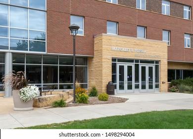 MANKATO, MN/USA - SEPTEMBER 1, 2019: Margaret R. Preska Residence Community on the campus Minnesota State University.