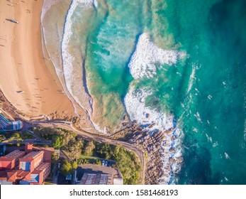 Manly Beach aerial, Sydney Australia