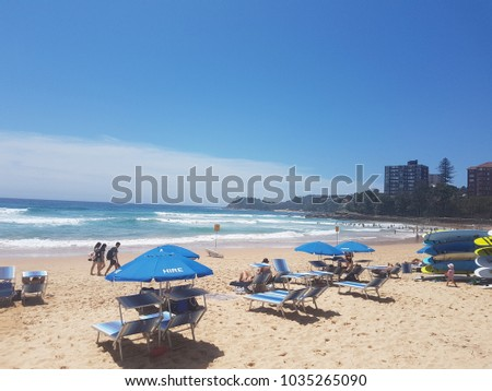 Manly Beach Sydney Australia On  There A A Lot Of