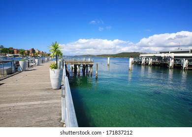 Manly wharf in Sydney Australia