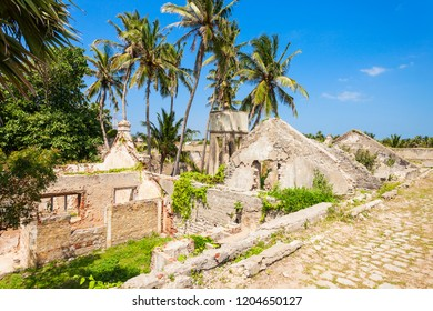 Mannar Fort is located on Mannar Island, Sri Lanka. Fort built by Portuguese, then fell to the Dutch and the British.