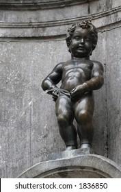The Manneken Pis in Brussels, Belgium.