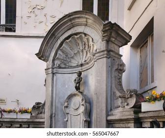 Manneken Pis in Brussels. Belgium
