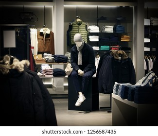 mannequin for clothes sitting on the table