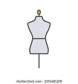 Mannequin color icon. Tailor's dummy.