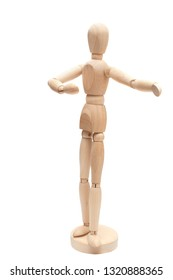 Mannequin dancing - on white background