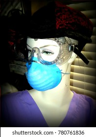 Mannequin Displaying Personal Protective Equipment
