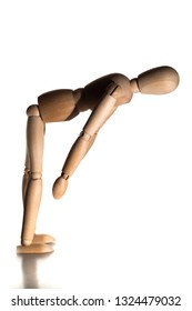 Mannequin doing stretching exercise