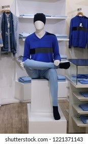mannequin in fashionable clothes