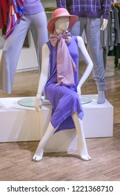 mannequin in fashionable dresses
