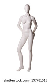 mannequin female isolated