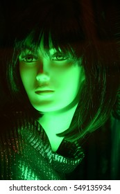 mannequin - green female head