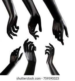 Mannequin Hand on white backgound