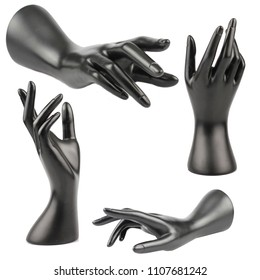 Mannequin Hand on white background
