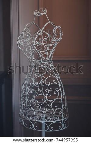 Mannequin Made Metal White Decorative Mannequin Stock Photo Edit