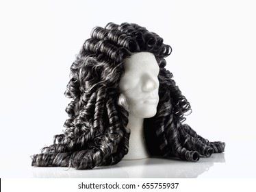 Mannequin Male Head with Alonge Wig on White