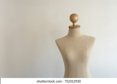 Mannequin on white background (Woman body model)