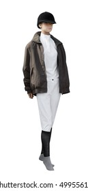 Mannequin in Riding Attire isolated with clipping path