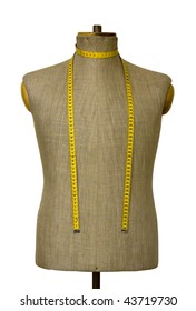 Mannequin torso with clipping path
