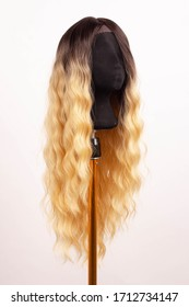 mannequin wig blond brown ombre curly hair afro