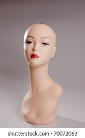 mannequin without hair for wig over gray