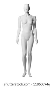 mannequin woman isolated