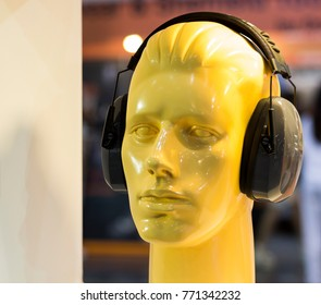 mannequins with ear muff ;Personal Protection Equipment PPE
