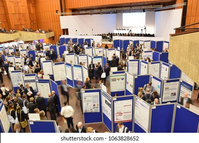 Mannheim, Germany - April 5, 2018: Congress of the German Society of Cardiology