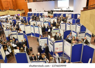 Mannheim, Germany - April 5, 2018: Poster presentation at the German Cardiologists Congress.