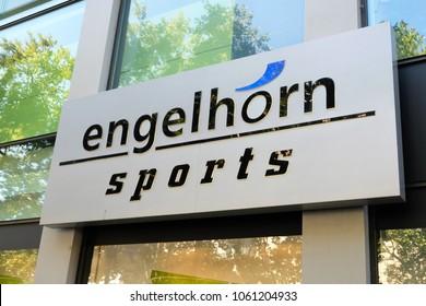 Mannheim, Germany - August 23, 2017: Engelhorn clothing shop. Founded in Mannheim in 1890, Engelhorn KGaA, formerly Engelhorn & Sturm, is a medium-sized company in the Rhine-Neckar metropolitan region