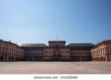 Mannheim, Baden-Württemberg, Germany, August, 31 2019. Baroque Palace, mannheim university building.